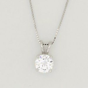 Jewelry - Stunning Sterling Silver Cubic Zirconia Necklace